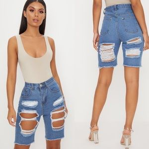 NWT PLT Extreme Distressed Shorts